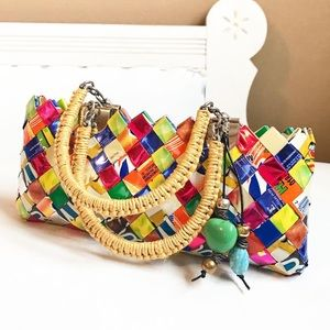 CANDY WRAPPER BAG DOUBLE HANDLE TWINE WRAPPED